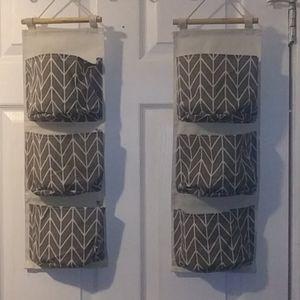 NWOT, Hanging storage w/matching storage bin